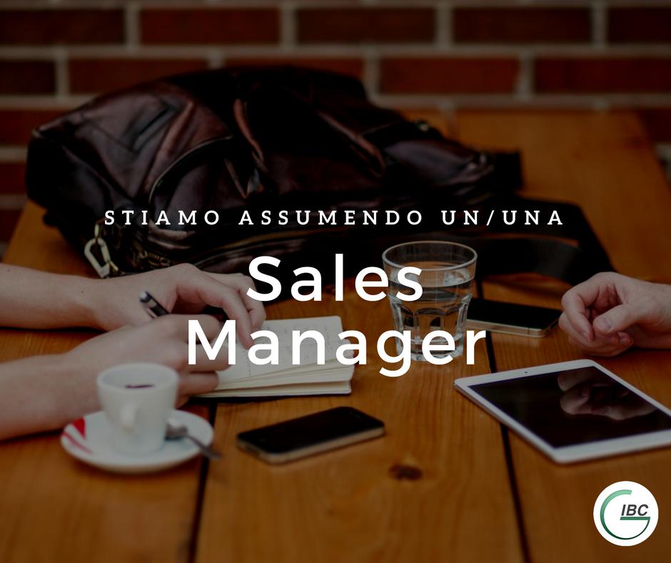 Offerta di lavoro IBC Padova Sales Manager
