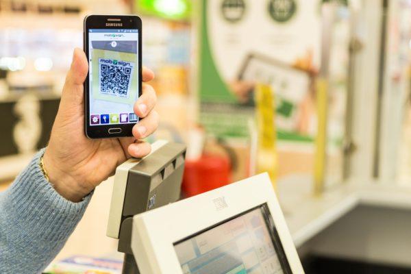 pagamento da smartphone con Mobysign