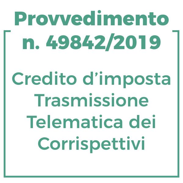 Provvedimento n. 49842/2019