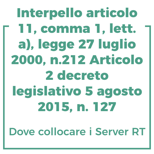 Interpello articolo 11, comma 1, lett. a), legge 27 luglio 2000, n.212 Articolo 2 decreto legislativo 5 agosto 2015, n. 127