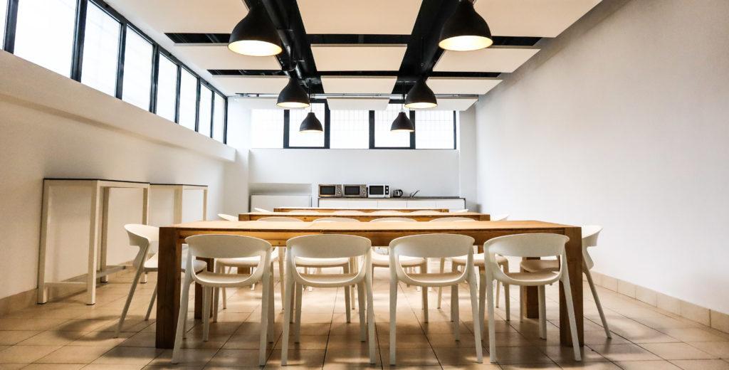 Sala mensa e area relax IBC